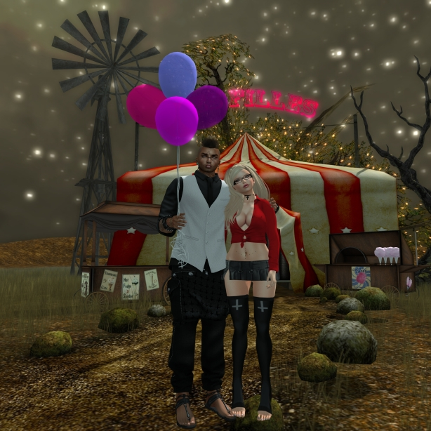 "Pose: ""Balloon Couple 1 RARE"" By Eleutheria"